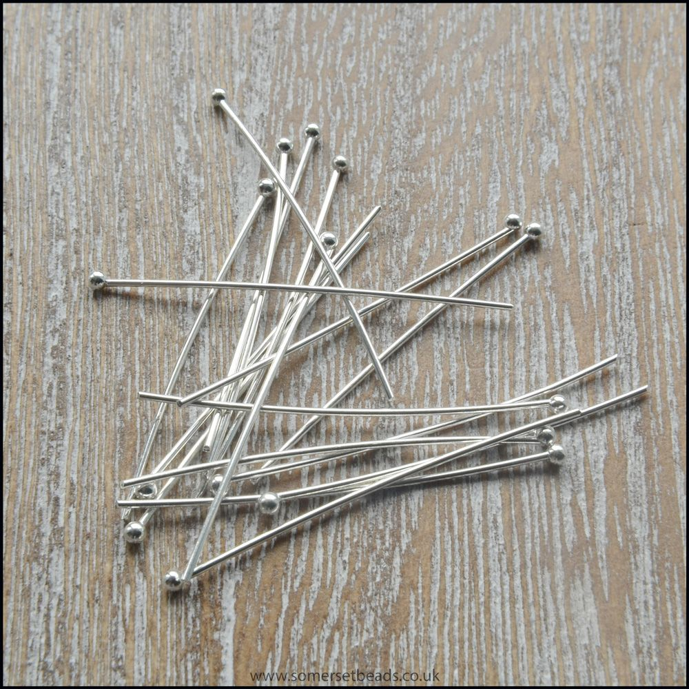 30mm Silver Ball Head Pins