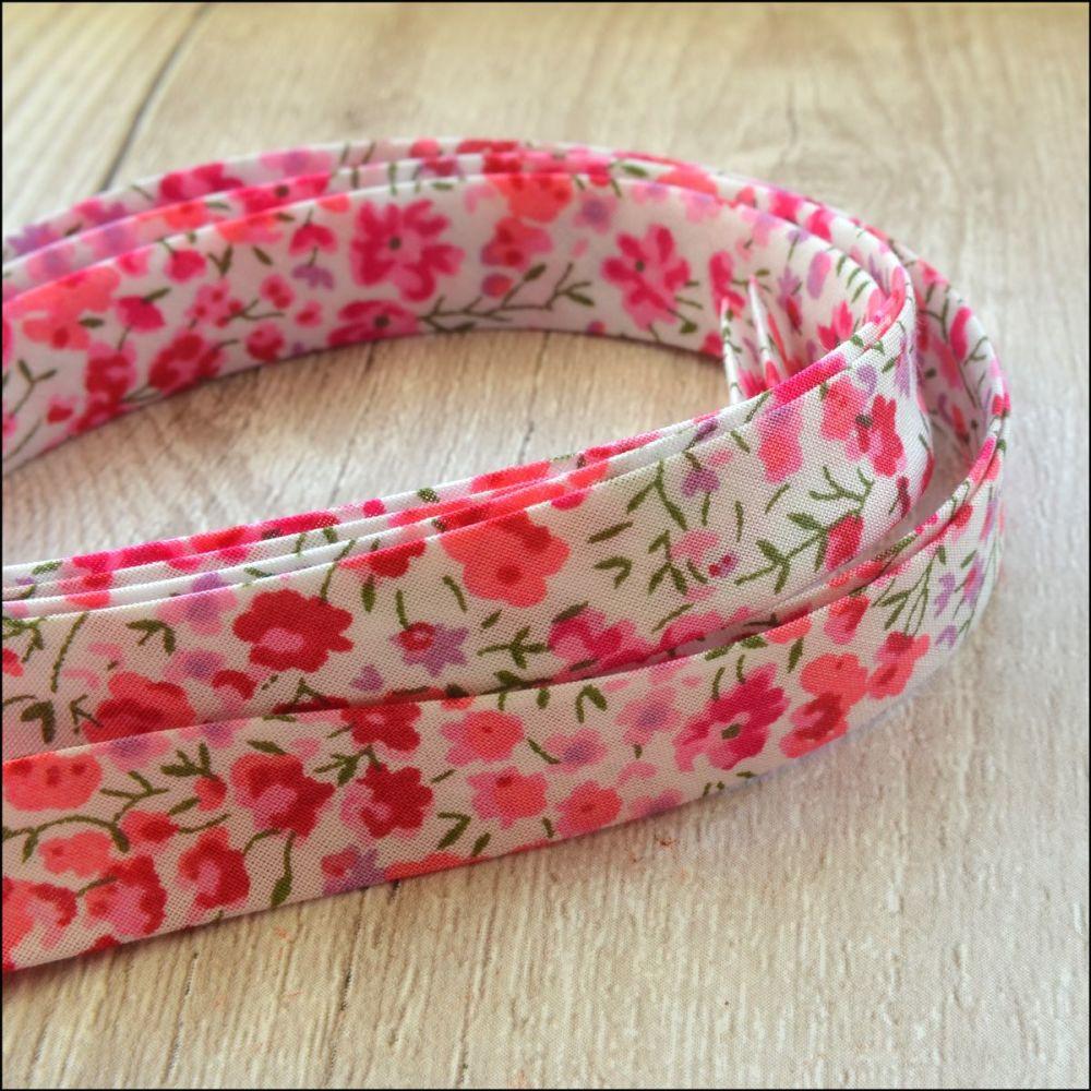 Liberty Of London Bias Ribbon 10mm Phoebe Pink
