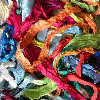 Sari Silk Ribbon Mixed Pieces