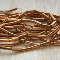 Copper Plated Hematite Tube Beads 9mm x 3mm