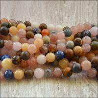 6mm  Mixed Gemstone Plain Round Beads