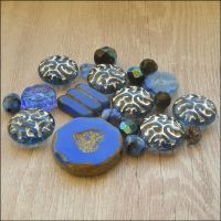 Royal Blue Czech Glass Bead Variety Pack
