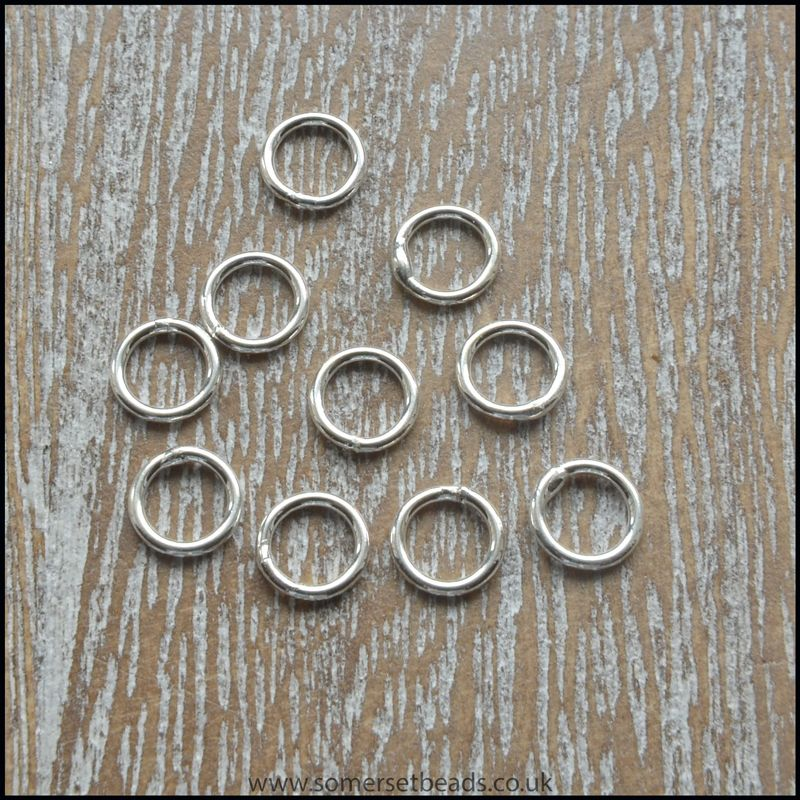 6mm Sterling Silver Thick Open Jump Rings