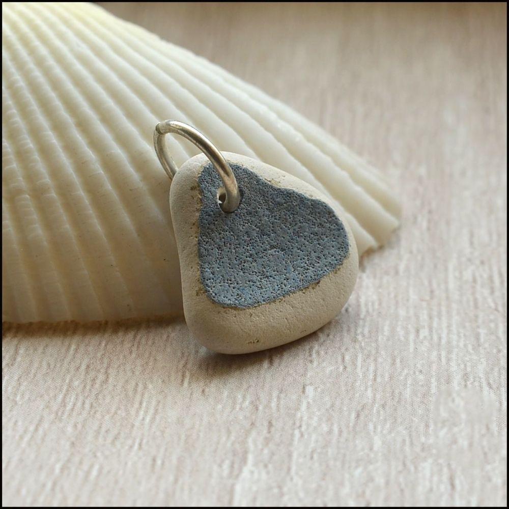 Blue & White Sea Pottery Pendant