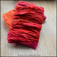 Tropical Sunset Sari Silk Ribbon
