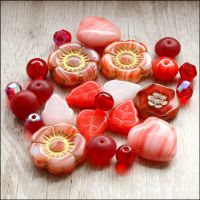 Red Czech Glass Bead Variety Pack