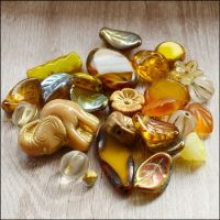 Gold Czech Glass Bead Variety Pack