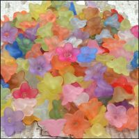 10mm Mixed Lucite Flower Beads