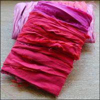 Fuchsia Pink Sari Silk Ribbon