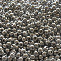 Preciosa  Czech Glass 6/0 Seed Beads - Silver Metallic - 20g
