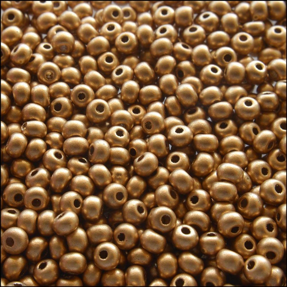 Preciosa  Czech Glass 6/0 Seed Beads - Gold Metallic - 20g pack