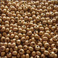 Preciosa  Czech Glass 6/0 Seed Beads - Gold Metallic - 20g