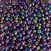 Preciosa  Czech Glass 6/0 Seed Beads - Metallic Purple Iris - 20g