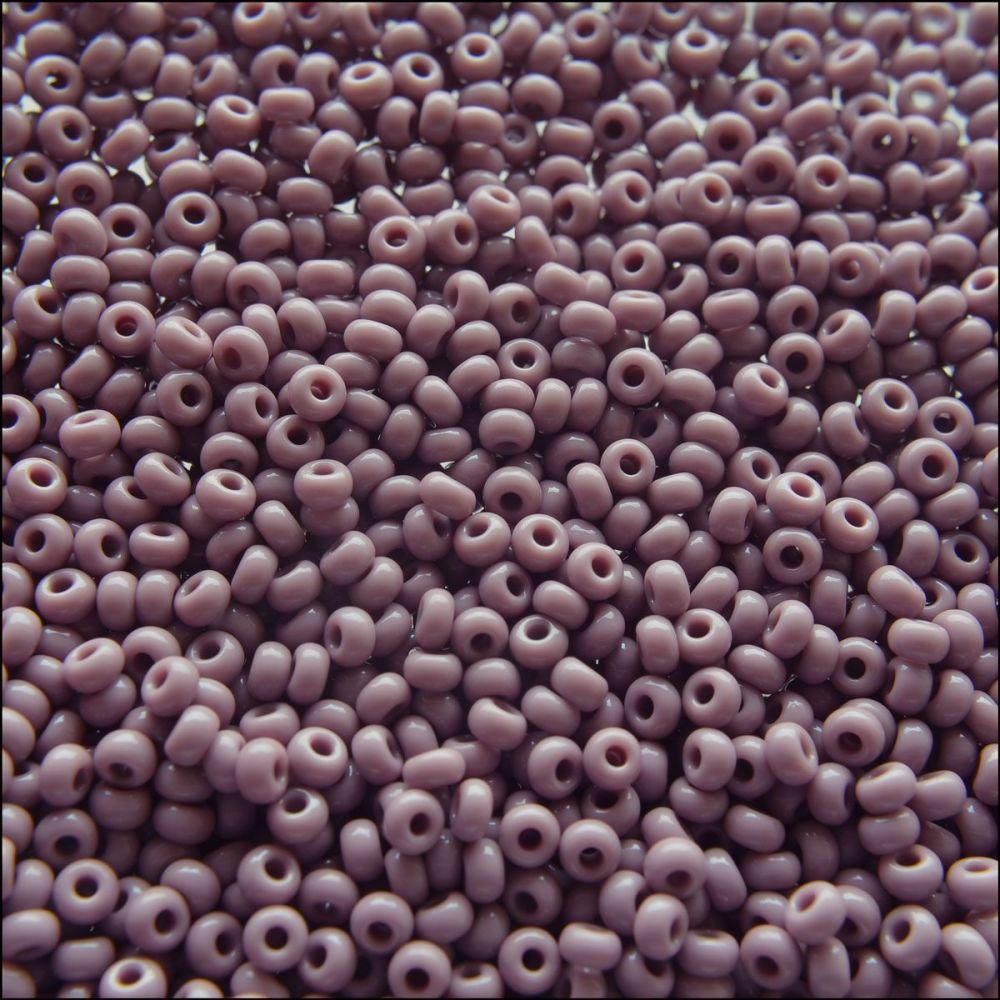 Preciosa  Czech Glass 8/0 Seed Beads - Opaque Mauve- 20g