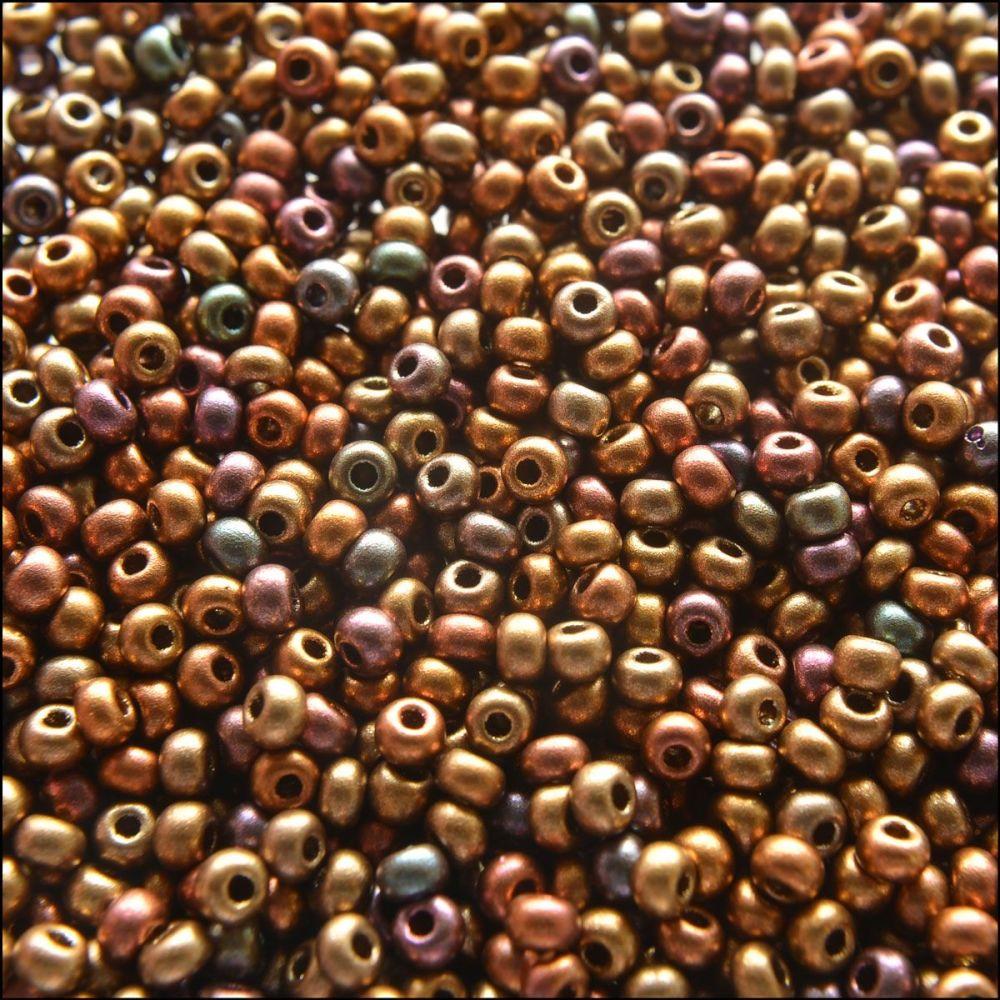 Preciosa  Czech Glass 8/0 Seed Beads - Crystal Orange Rainbow - 20g