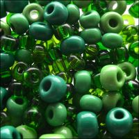 Preciosa Czech Glass Seed Bead Mix -Green