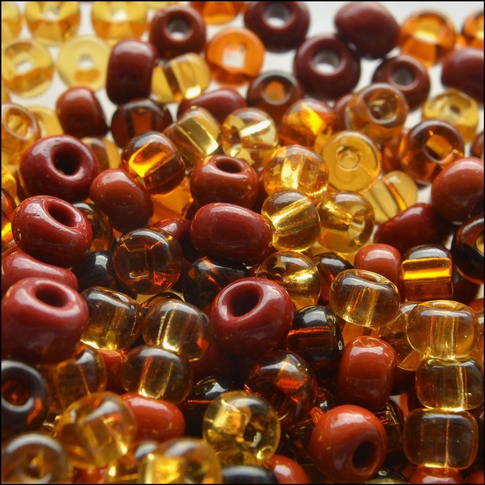 Preciosa Czech Glass Seed Bead Mix - Topaz