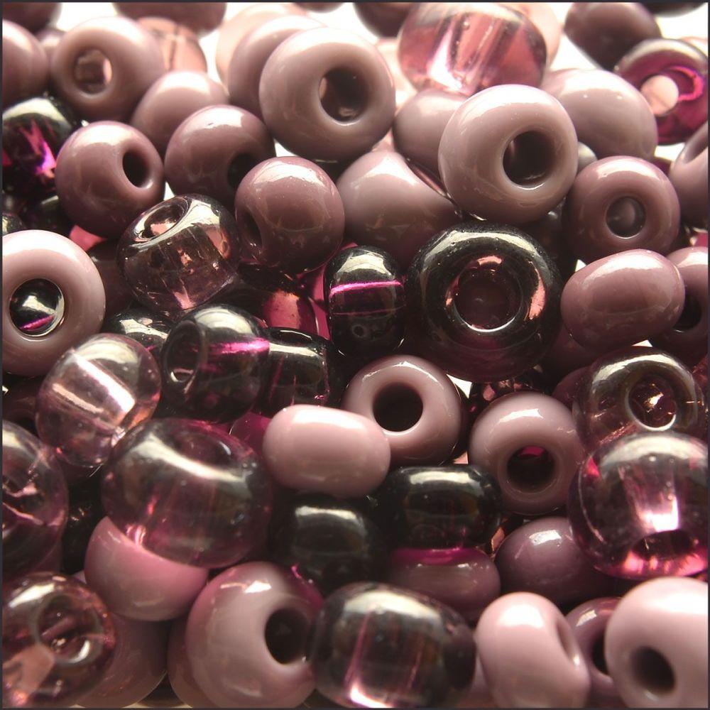 Preciosa Czech Glass Seed Bead Mix - Purple