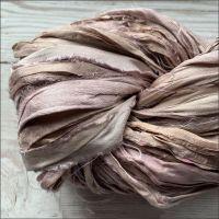 Smokey Lavender Sari Silk Ribbon