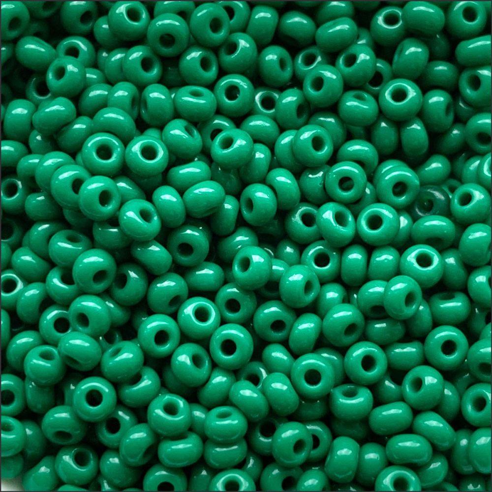 Preciosa  Czech Glass 8/0 Seed Beads - Opaque Dark Green- 20g
