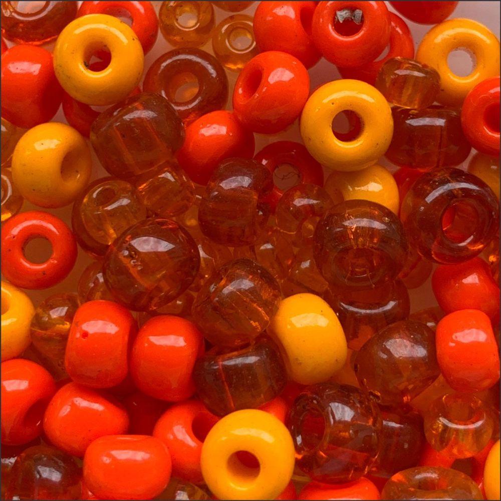 Preciosa Czech Glass Seed Bead Mix - Orange