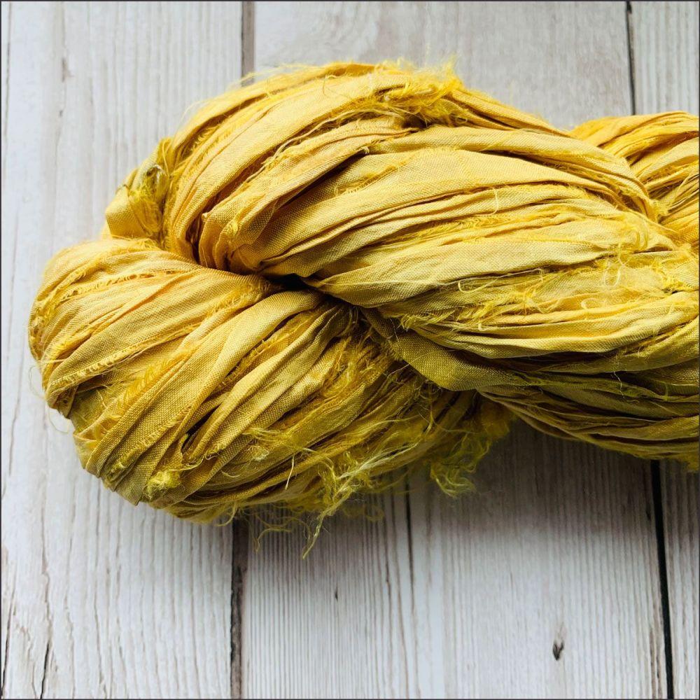 Lemon Sari Silk Ribbon