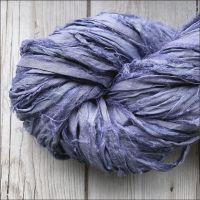 Purple Slate Sari Silk Ribbon