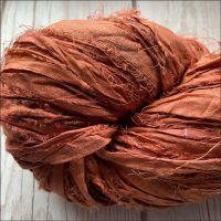 Dark Ochre Sari Silk Ribbon