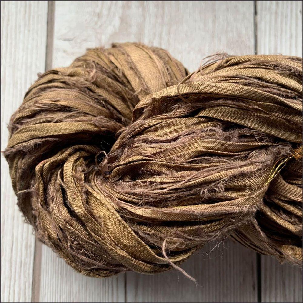 Espresso Sari Silk Ribbon