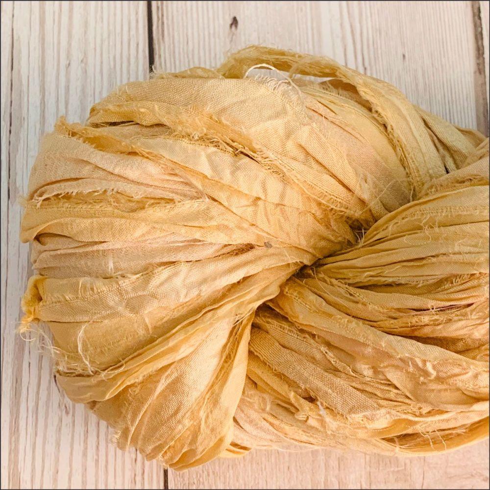 Butterscotch Sari Silk Ribbon