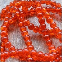 Orange & Peach Glass Beads