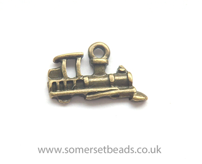 Bronze Steam Train Charms