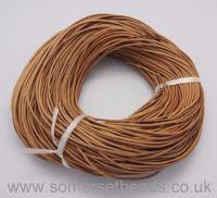 1mm Round Leather Cord - Peru