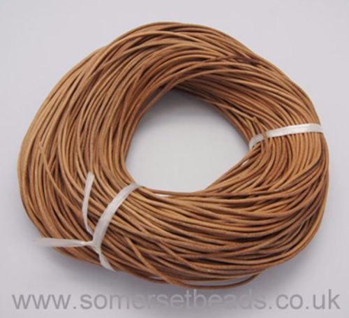 1mm Round Leather Cord - Peru