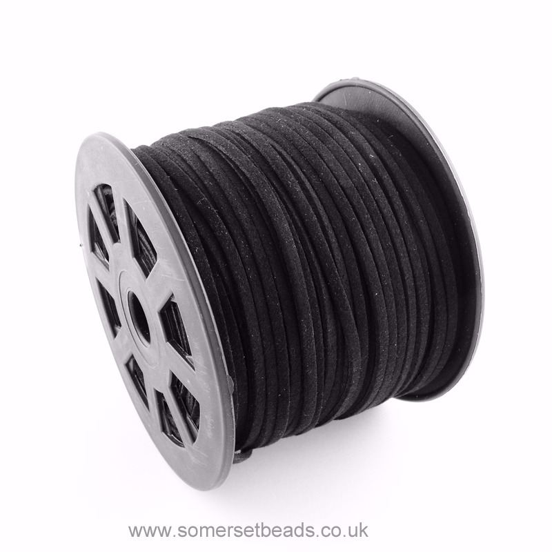3mm Faux Suede Cord - Black