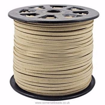 3mm Faux Suede Cord - Biscuit