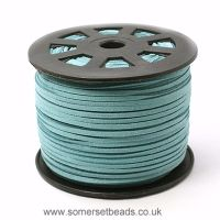 3mm Faux Suede Cord- Medium Turquoise