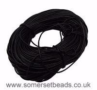 2mm Round Genuine Leather Cord - Black