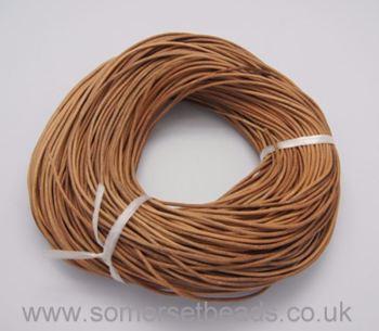 2mm Round Leather Cord - Peru