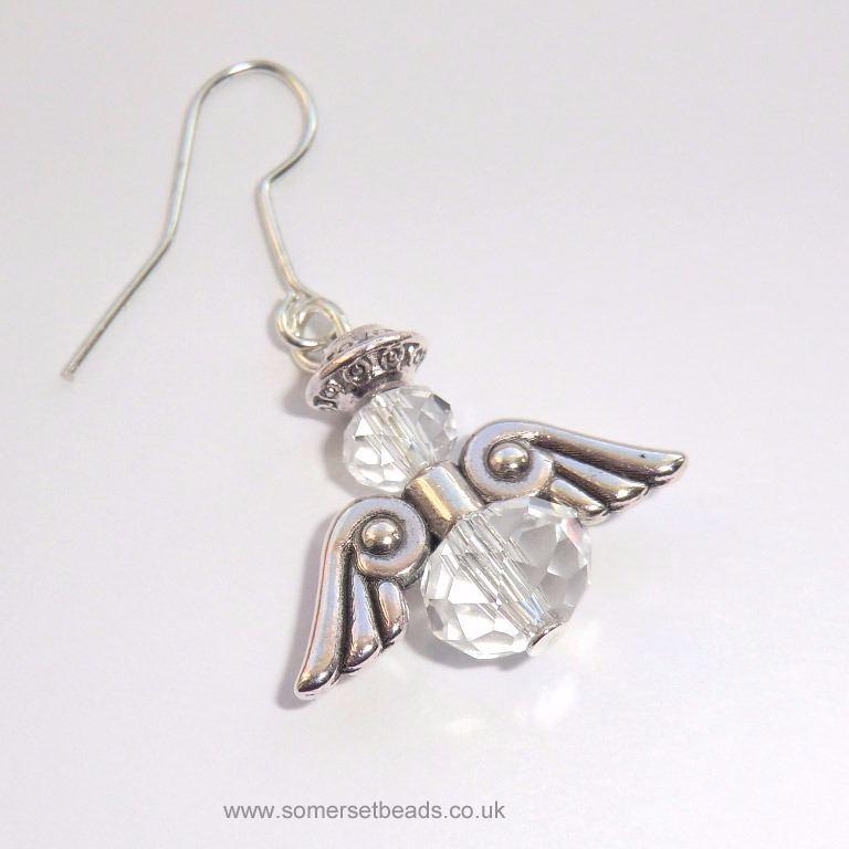 Clear Crystal Angel Earring Making Kit