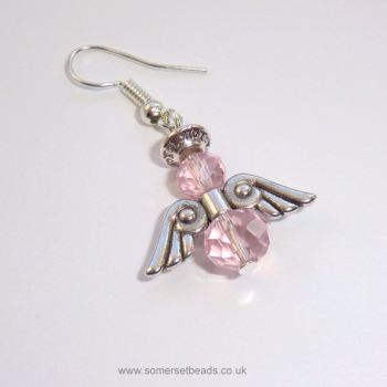 Pink Crystal Angel Earring Making Kit