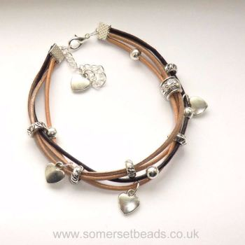 Multi Strand Leather Bracelet Kit - Natural