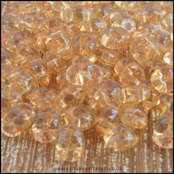 Superduo 2.5mm x 5mm Twin Hole Seed Beads -Crystal Champagne
