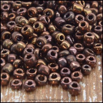 Czech Glass 11/0 Seed Beads - Bronze - 15g