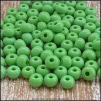 Preciosa Czech Glass Seed Beads 6/0 Opaque Light Green