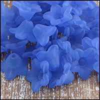 10mm Blue  Lucite Flower Beads