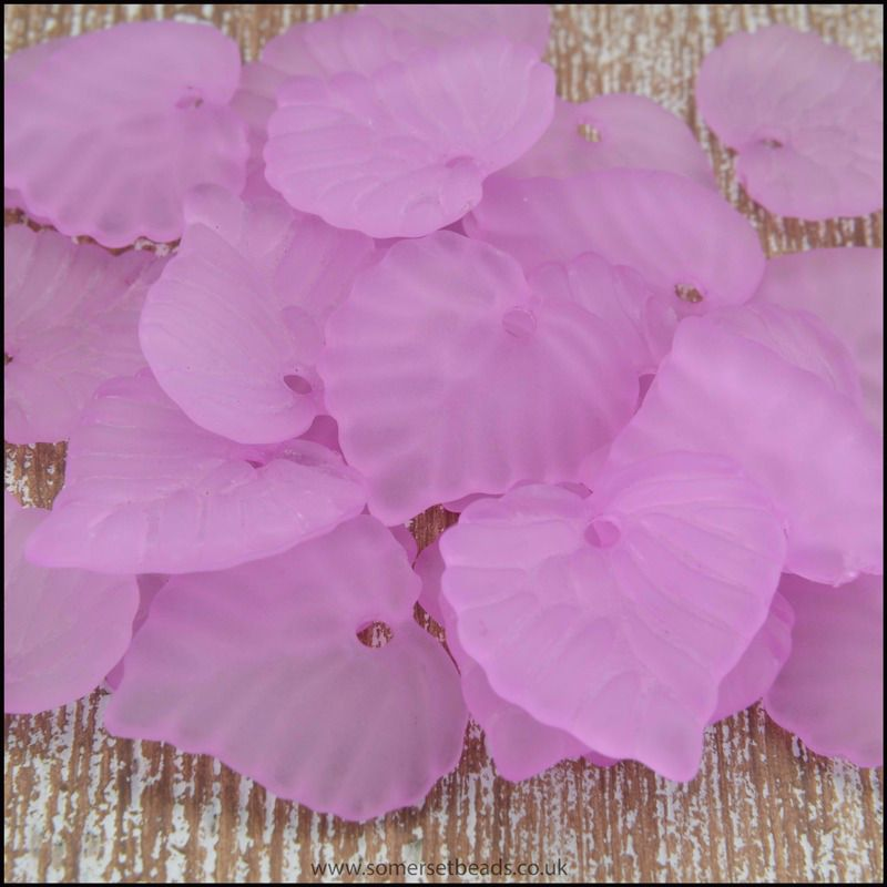 Lilac Lucite Leaves