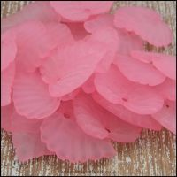 Pink Lucite Leaves