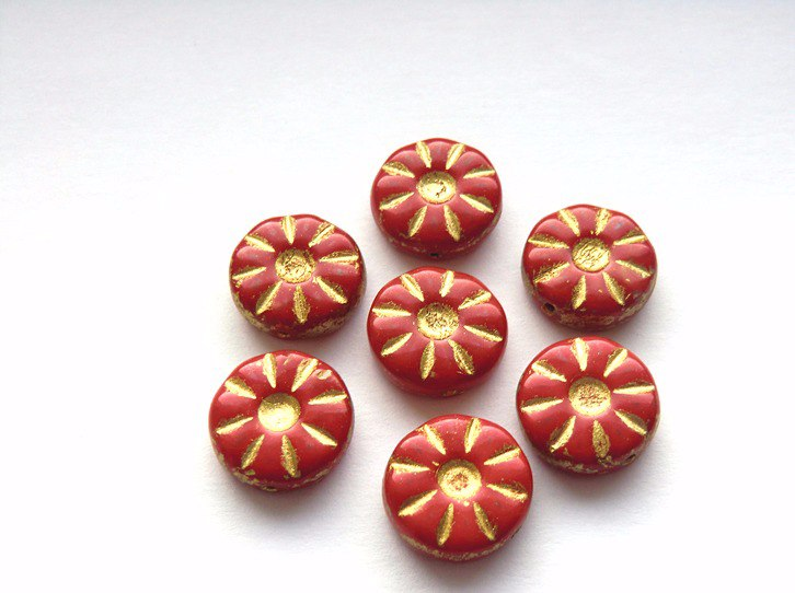 red-czech-glass-daisy-beads