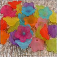 13mm Mixed Lucite Flower Beads